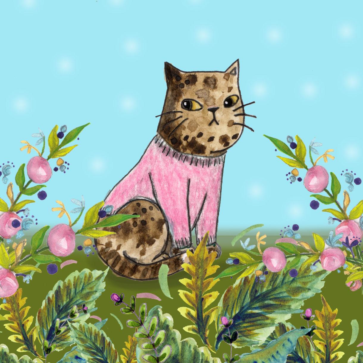 Cat int garden