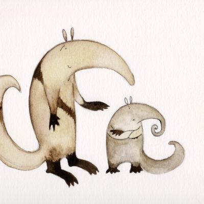 Howard and Audrey aardvark